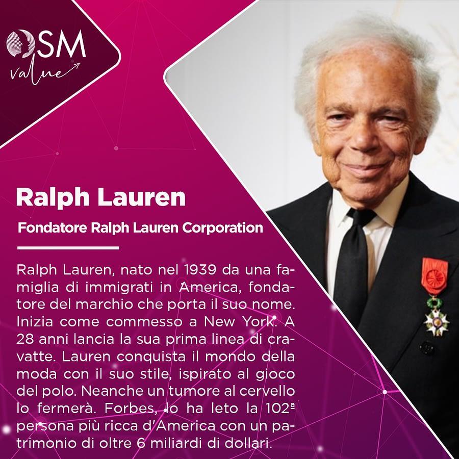 Ralph Lauren: fondatore del marchio di moda Ralph Lauren Corporation