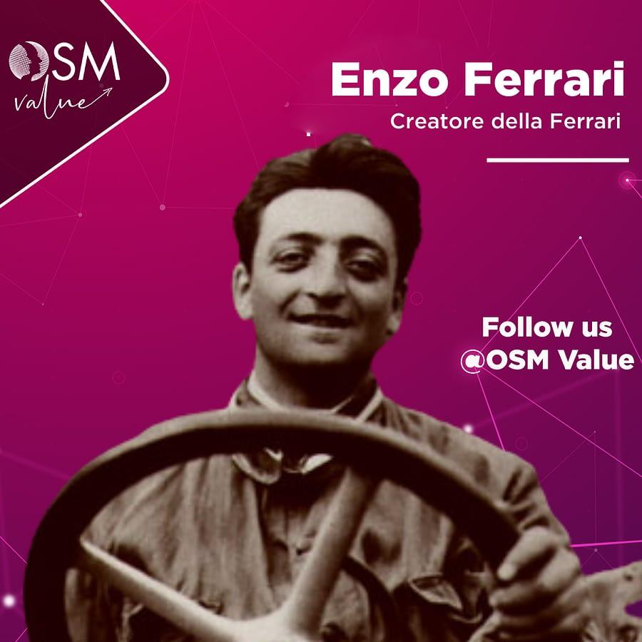 Enzo Ferrari, il creatore della Ferrari, la casa automobilistica e la scuderia di Formula 1 più vincente di sempre.