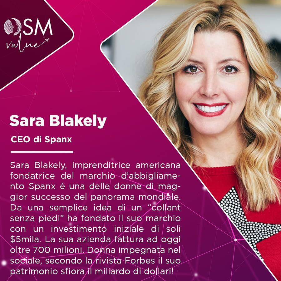 Sara Blakely imprenditrice e fondatrice del marchio Spanx