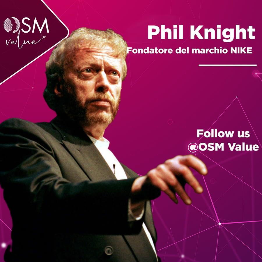 Phil Knight, imprenditore Usa che da un viaggio in Giappone torna in America e nel giro di qualche anno dà vita alla Nike