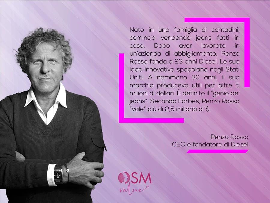 Renzo Rosso fondatore del marchio Diesel